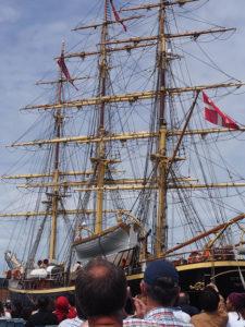 Copenhague, bateau de la reine