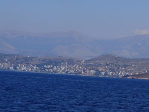 Saranda vue du bateau