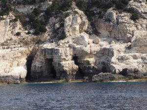 les falaises d'Antipaxos