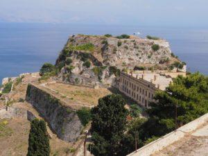 Vue de la citadelle de Corfou
