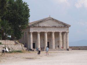 Faux temple grec à Corfou