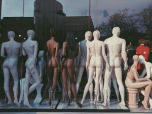 Les mannequins des boutiques