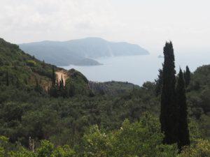 Route de montagne à Corfou