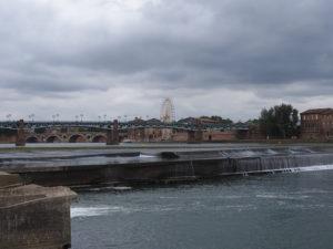 La Garonne vue de l'espace Bazacle à Toulouse
