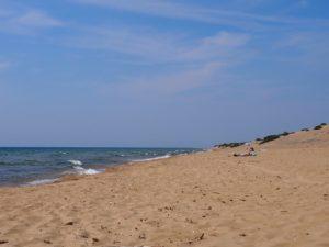 Issos beach à Corfou