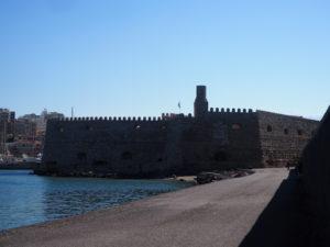 Vue du port d'Heraklion