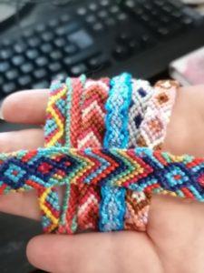 Je fais des bracelets brésiliens
