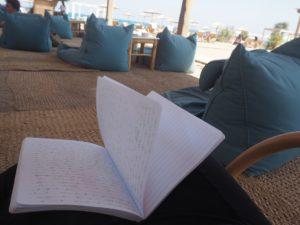 Ecrire à la plage