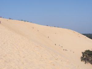 Redescendre de la dune du Pilat