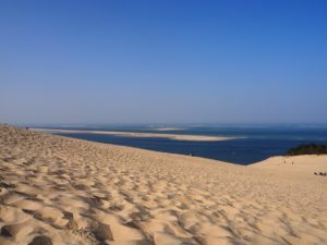 En haut de la Dune du Pilat