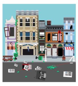 Bagarre Lego en Powerpoint Art